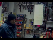 Snapshots taken from camera footage from La Tiendita show the suspect in an armed robbery of the store.