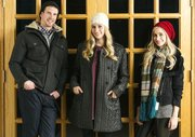 From left, Nicholas Cunigan, Elizabeth Kennedy and Emily Kennedy model their perfect winter outfits.