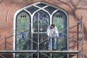 Wade Walchak of the Sentimental Art Glass Company, worked on the stained glass windows at St. Paul United Church of Christ as part of a project to commemorate the 100th anniversary of the installation of the glass.