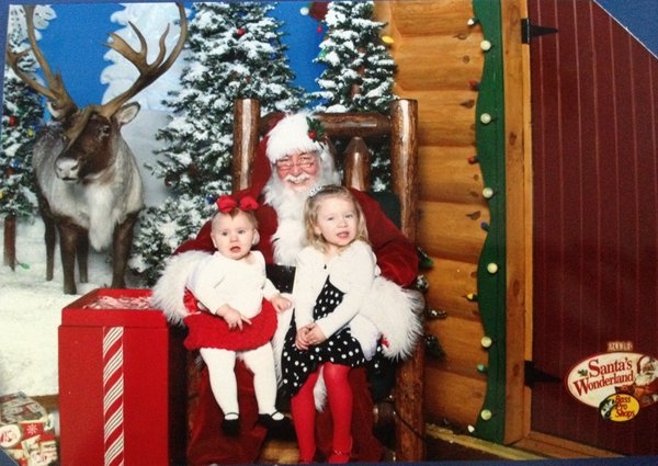 B and HJ with Santa