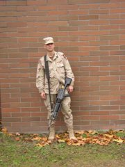 Jason Thornton in 2003, on the day he left for his first tour of duty in Iraq.