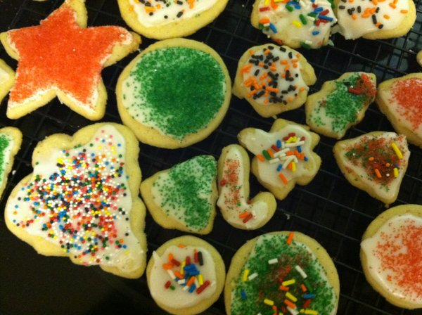 My son's day of working the cookie line looks pretty delicious.