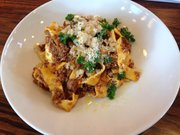 Bison bolognese at Merchants Pub and Plate, 746 Massachusetts St.