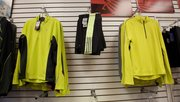 Moisture-wicking workout shirts and shorts for sale at Garry Gribble's Running Sports, 839 Massachusetts St.