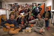 From front left, Chris Luxem, Mark Osman, Ben Saunder, Rolf Petermann, Brad Girard, 2nd row Joe Gronniger, Bobby Sauder, Andrew Frederick, Claire Vowels, rear, Danny Barkofske, Sam Mitchie, Maxfield Yoder, Nicholas Stahl make up Whatever Music Collective.