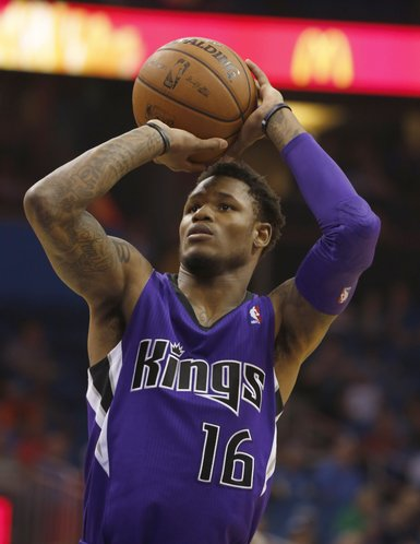 Sacramento Kings guard Ben McLemore (16) during an NBA basketball game between the Sacramento Kings and Orlando Magic on Saturday, Dec. 21, 2013, in Orlando, Fla. The Kings won 105-100. (AP Photo/Reinhold Matay)