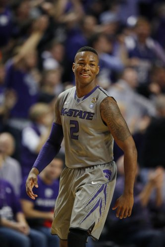 Kansas State guard Marcus Foster (2) during the first half of an NCAA college basketball game against Oklahoma State at Bramlage Coliseum in Manhattan, Kan., Saturday, Jan. 4, 2014. (AP Photo/Orlin Wagner)