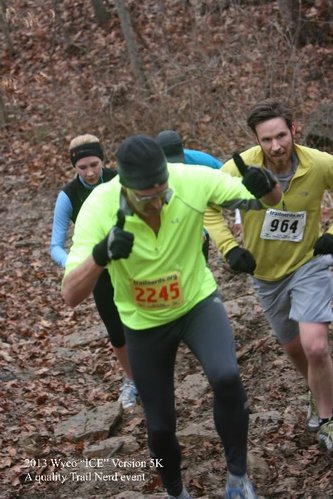 Runners tackle a hill in the Psychodelic 5k, Ice Version 2013. Photo courtesy of Dick Ross.