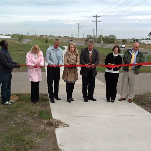 A ribbon-cutting ceremony was held in October 2013 to celebrate the completion of a new paved trail in Eudora. Uploaded