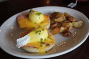 Smoked salmon eggs benedict from The Roost