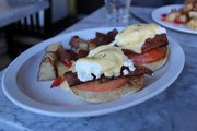 The blackstone eggs benedict at Milton's.