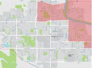 The northeast portion of Lawrence is a federally designated food desert. This map shows the four adjacent low-income census tracts where a significant number of residents live more than a mile from the nearest grocery store. More than 125 of those households do not have cars.