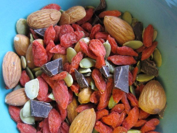 Trail mix: A satisfying and easy snack.