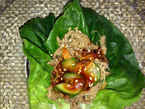 Korean style lettuce wraps
