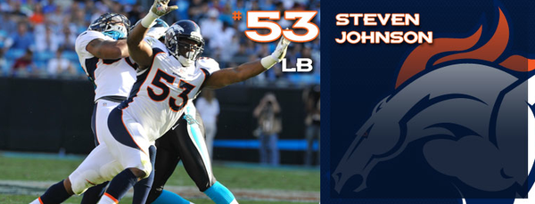 Steven Johnson's player page heading from the Denver Broncos' web site.