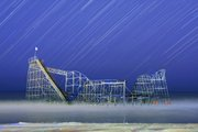 A 45-minute exposure captures streaks of stars over the Jet Star roller coaster, which fell into the ocean off the Casino Pier during Hurricane Sandy. This creative approach to a popular scene in New Jersey was captured by Tony Kurdzuk of the Star-Ledger in New Jersey, and was one of nearly 1,000 photographs judged by the Journal-World photo staff in the New Jersey Press Association photo contest.