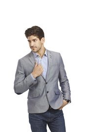 Pair a suit jacket with jeans for a more casual date.