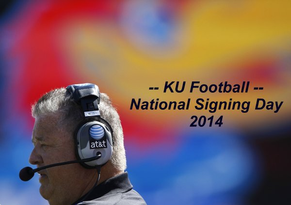 It's National Signing Day and KU coach Charlie Weis is expecting 20 letters of intent to arrive via fax.