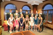 Pictured are some of the Lawrence High School students whose tab at Genovese was picked up by a generous couple Saturday night before the winter formal dance.