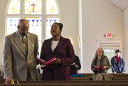 Parishioners attend a worship service at St. Luke AME church, 900 New York St., on Sunday, Feb. 16, 2014.