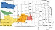 The five Groundwater Management Districts in Kansas are organized and governed by area landowners and large-scale water users to address water-resource issues. GMD's 1, 3, and 4 draw water from the High Plains Aquifer, a network of water-bearing rock formations hundreds of feet below the surface. GMD's 2 and 5 draw water from aquifer systems nearer the surface and which also provides municipal water to Wichita, Hutchinson and surrounding communities.