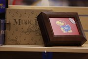 KU fight song music box, Kansas Sampler, 921 Masssachusetts.