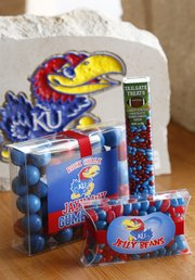KU jelly beans, gum balls and chocolate-covered sunflower seeds, Kansas Sampler, 921 Massachusetts.