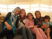Hannah Myrick Anderson visits some of the patients she treated in Zaatari's reproductive health clinic.