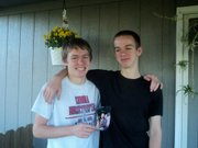 Dylan Strickell, right, with his older brother Dalton.