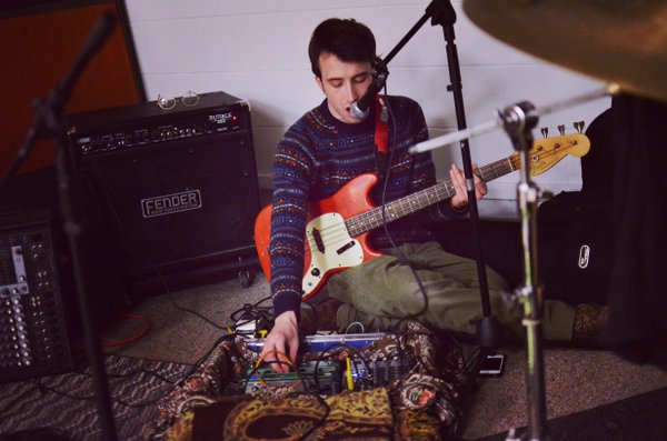 Chris Luxem practices with OILS at SeedCo Studios on Feb. 26.