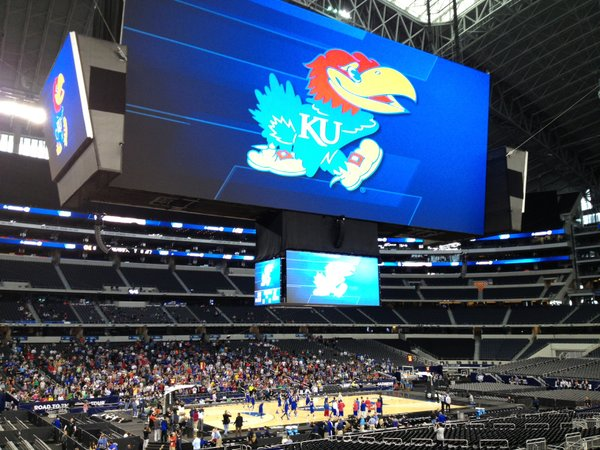 A lot of things have to go right for the Jayhawks to reach the Final Four at Jerry World (shown above when KU played there in last year's Sweet 16).