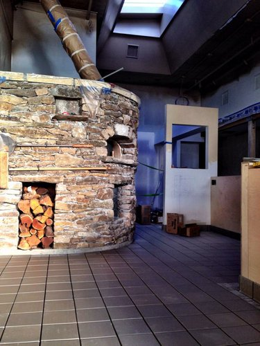 The newly installed wood-fired oven at Limestone Pizza Kitchen and Bar, 814 Massachusetts St. (Contributed photo)