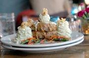 Chicken Fried Filet of Three Meatloaf at Basil Leaf Cafe, 616 W. Ninth St.