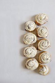 These cinnamon rolls are adapted from a cake recipe.