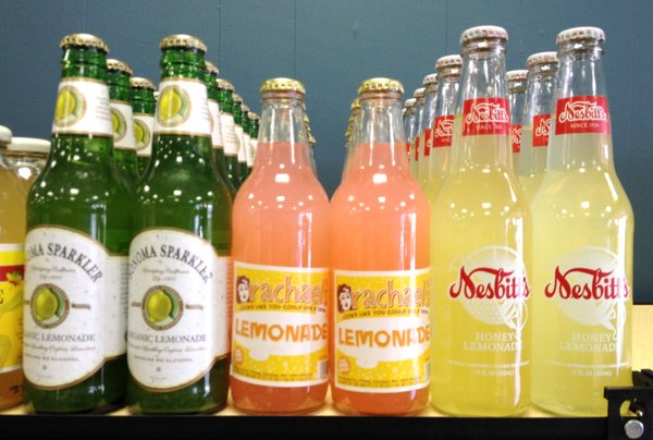 A fraction of the lemonade soda section at Mass Street Soda.