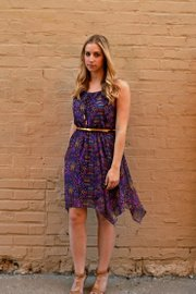 Elizabeth Kennedy wears a City Triangle dress, $39.99, that would be a good for a family gathering.