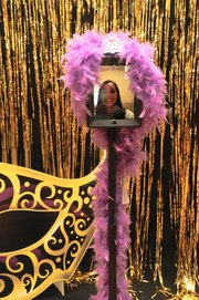 Olivia Ledezma, a student at Lawrence Virtual High School, at the school's prom on Saturday, April 12.
