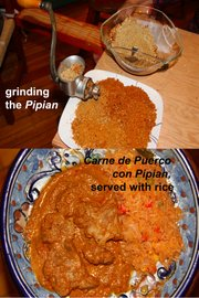 "Pipian, or pumpkin seed mole, before and after. From ""Mexican Ranch Food: La Concina de Don Tacho y Doña Ticho."""