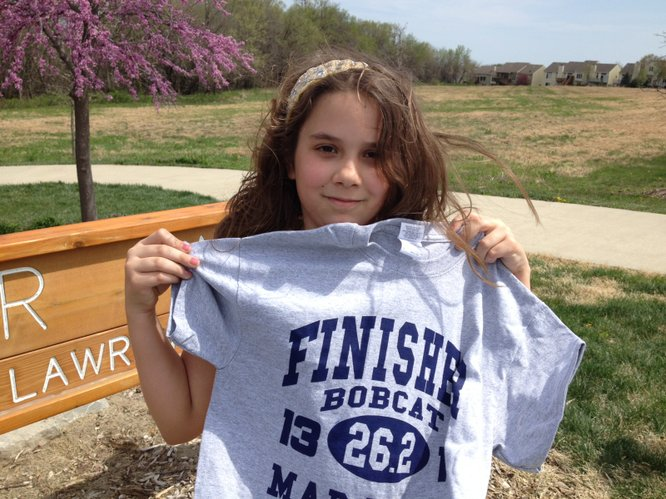 Lavinia is proud to be a finisher!