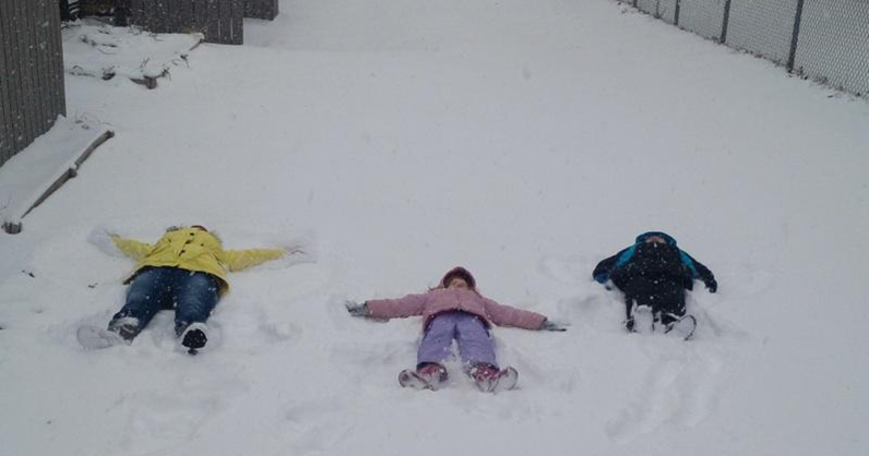 Snow means snow angels!