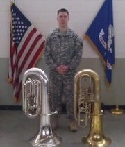 Specialist Jeff Bubb is an Army Reserve Soldier serving in the 312th Army Band in Lawrence.