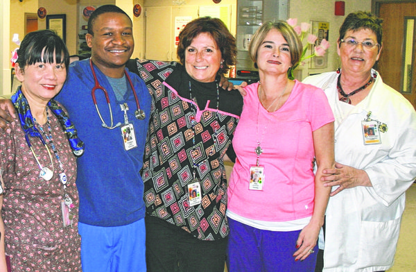 Renovations within the hospital not only improve facilities, they also increase the satisfaction of patients, their families and hospital staff. Some of the LMH associates who work on the fourth floor are Tiew Clippinger, Clifton Sims, Terri Kaiser, Pamela Wingert and Barb Hermreck.