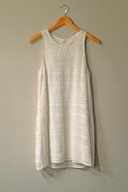 A white dress from Urban Outfitters
