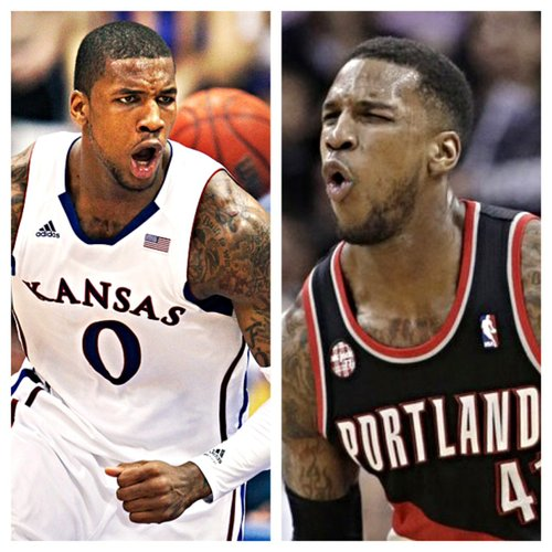 Former Jayhawk Thomas Robinson has found a role with the Portland Trailblazers that is similar to the one he had as a sophomore at Kansas.