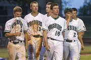 Free State players walk off the field after their loss to Washburn Rural, Wednesday evening in Topeka.