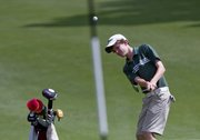 Free State golfer Jack Junge competes in the Class 6A boys golf state tournament Tuesday, May 27, 2014, at Topeka Country Club.