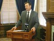 Kansas Secretary of State Kris Kobach files for re-election.