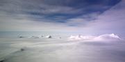 This photo of West Antarctica was taken from NASA's P-3 aircraft in November 2013 during that year's installment of Operation IceBridge, a collaborative project between NASA and the Center for Remote Sensing of Ice Sheets. The photo was taken by Bruno Camps-Raga, a research engineer with CReSIS.