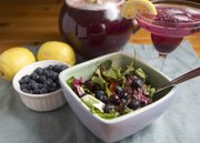 Jamberry Summer Brew and Blueberry Summer Dinner Salad with Blueberry Basil Balsamic Vinaigrette