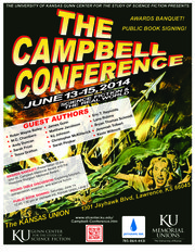Poster for the 2014 Campbell Conference at Kansas University. Image courtesy of KU's Gunn Center for the Study of Science Fiction.